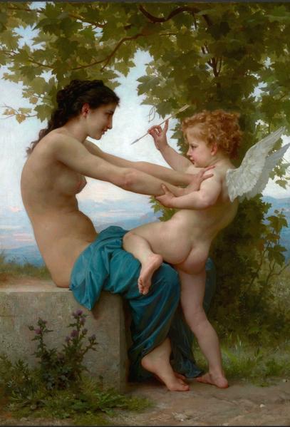 威廉‧阿道夫‧布格羅,《抵禦愛神》,1873年作。(Art Renewal Center提供)