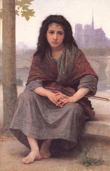 威廉‧阿道夫‧布格羅,《波希米亞女孩》,1890年作。(Art Renewal Center提供)