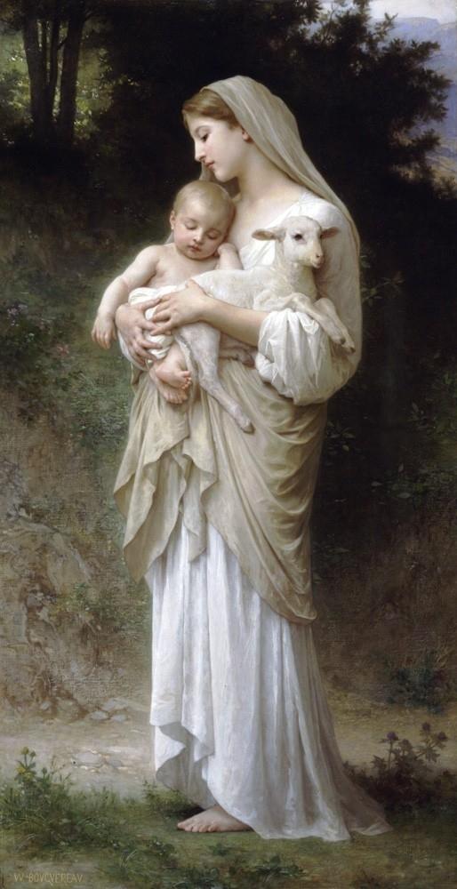 威廉‧阿道夫‧布格罗,《纯真》(Innocence),1893年。(Art Renewal Center提供)