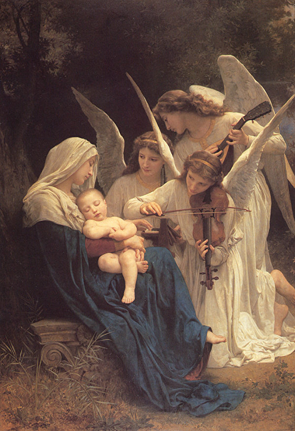 威廉‧阿道夫‧布格罗,《天使之歌》(Song of Angels),1881年。(Art Renewal Center提供)