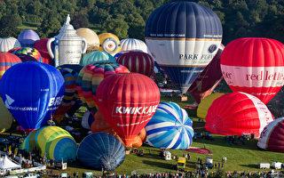 组图:英国布里斯托尔热气球节缤纷壮观