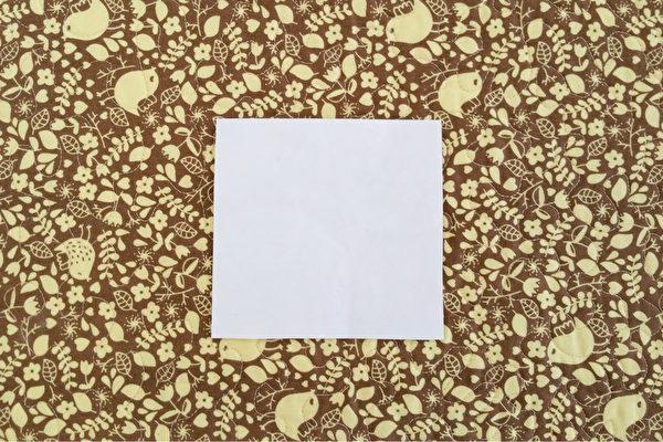 正方形的紙張,大小不拘。(Tara MacIsaac/大紀元)