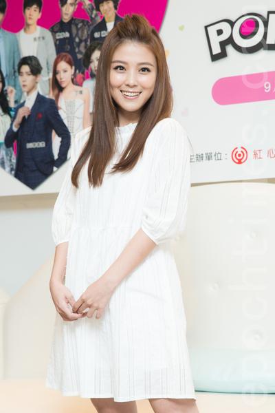 艺人卓文萱8月11日在台北出席公益演唱会记者会。(陈柏州/大纪元)