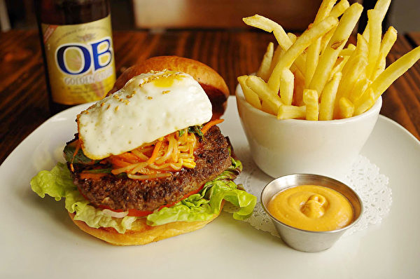 Mokja独创的特色Bibimbap Burger(图:Mokja提供)
