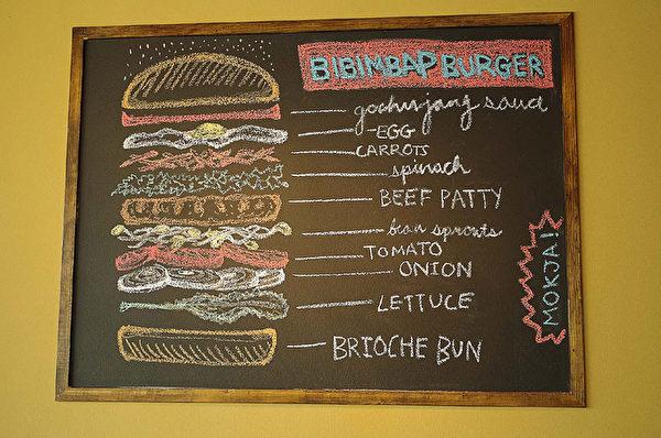 Bibimbap Burger图解. (图:Mokja提供)