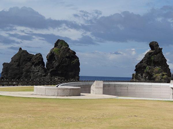 绿岛人权纪念公园区的将军岩。(琼慧/大纪元)