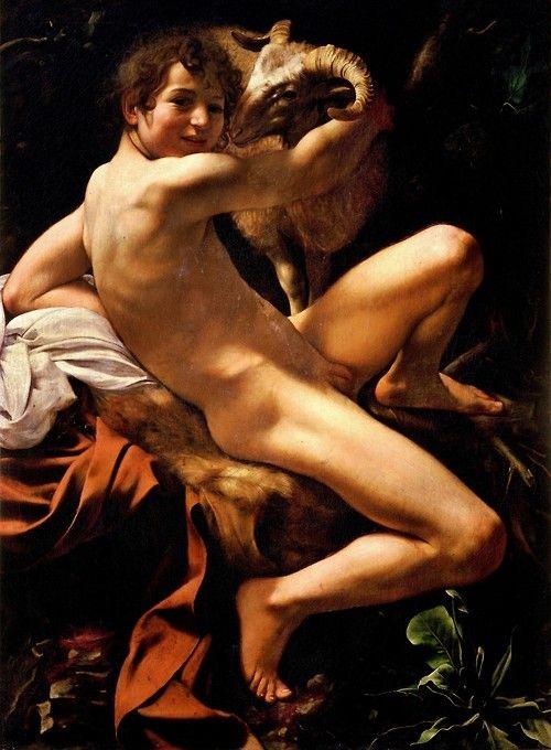 圖11:[意]卡拉瓦喬,《施洗者聖約翰》(Capitoline St John),羅馬卡比托利歐博物館收藏。(維基百科公共領域)