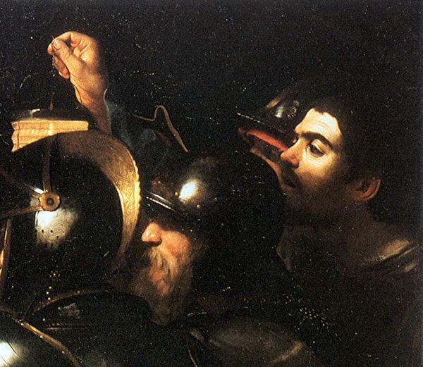 圖7:卡拉瓦喬自畫像,《背叛基督》局部,都柏林愛爾蘭國家畫廊收藏。(Art Renewal Center提供)