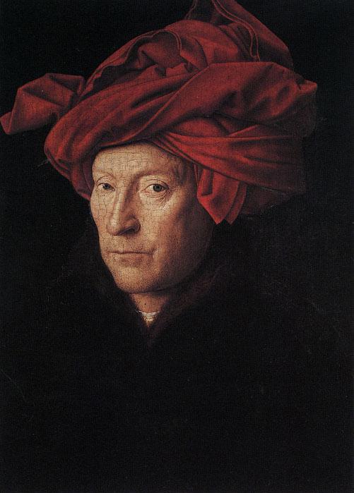 圖4:[尼德蘭]揚‧凡‧艾克(Jan Van Eyck),《自畫像》(Self Portrait),作於約1433年。(Art Renewal Center提供)