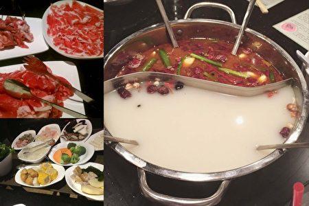 麻辣汤底的羊火锅令人食欲大开。(萧雨萱/大纪元)