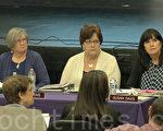 菲利蒙联合高中学区委员以4:1投票通过了与AT&T续约租用手机塔。(林骁然/大纪元)