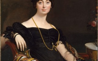 """1980年时,纽约大都会艺术博物馆取出来一些自""""一战""""以来就被封存的最好的学院派绘画,挂在他们新建的安德烈‧梅耶陈列厅,《纽约时报》的希尔顿‧克莱默引领了一场新闻界的攻击。图为:[法]让‧奥古斯特‧多米尼克‧安格尔(Jean Auguste Dominique Ingres,1780—1867),《雅克―路易‧勒布朗夫人》(Madame Jacques-Louis Leblanc),纽约大都会艺术博物馆藏。(艺术复兴中心提供)"""
