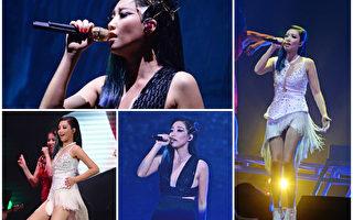 """A-Lin""""Sonar声呐世界巡回演唱会""""首场于8月29日在台北小巨蛋组图。(台湾索尼音乐/大纪元合成)"""