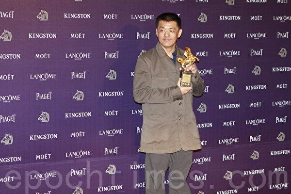 台灣歌手林強25年前以《向前行》一曲成名。圖為林強出席金馬獎資料照。(許基東/大紀元)