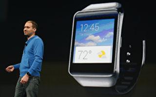 日前谷歌公布了iOS系統的一個安卓手錶(Android Wear)應用程序,使大量錶款開始支持iPhone。(Stephen Lam/Getty Images)