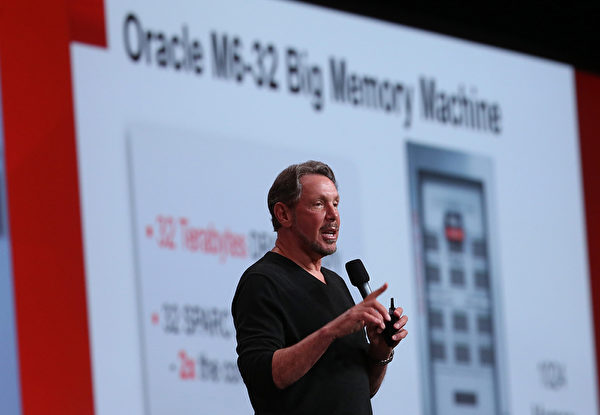 甲骨文(Oracle)共同创始人拉里·埃理森(Larry Ellison)。(Justin Sullivan/Getty Images)