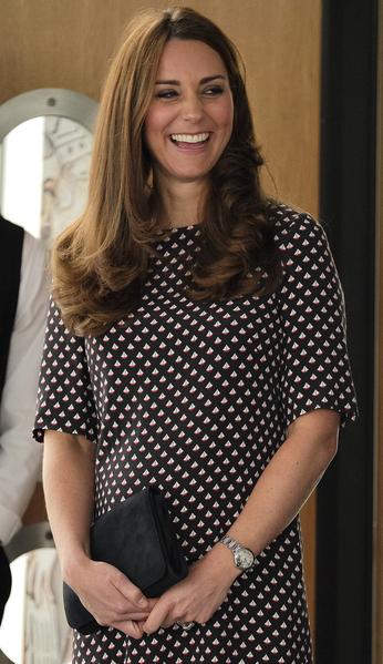 2015年2月12日,凱特王妃參觀美國盃帆船賽英國代表隊Ben Ainslie Racing的基地。(Christopher Pledger/WPA Pool/Getty Images)