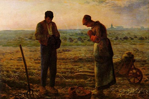 [法]让-弗朗索瓦‧米勒(Jean-François Millet,1814—1875),《晚祷》(L'Angélus),1857年作,巴黎奥塞博物馆藏。(艺术复兴中心提供)