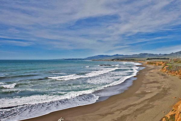 位在加州Cambria的Exotic Garden,擁有180度無遮擋的海岸景觀。(Dana Cappiello提供)
