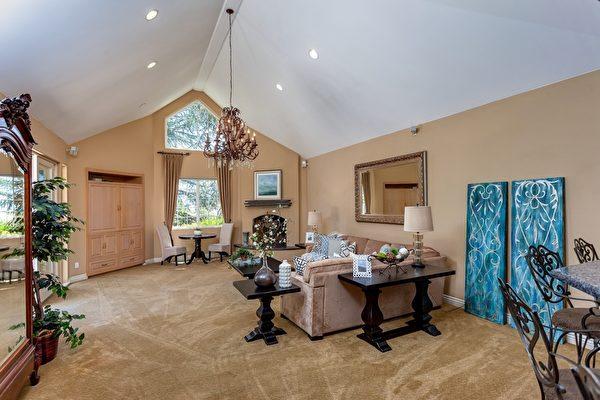 舒適的家庭聚會室。(Bonnie Glennon提供)
