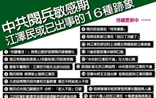 中共阅兵敏感期 江泽民或已出事的16个迹象