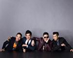 黃家強(左起)、任賢齊、蘇永康、梁漢文最近一起合作,組成重量級團體「男人幫」發片。(寰亞唱片提供)
