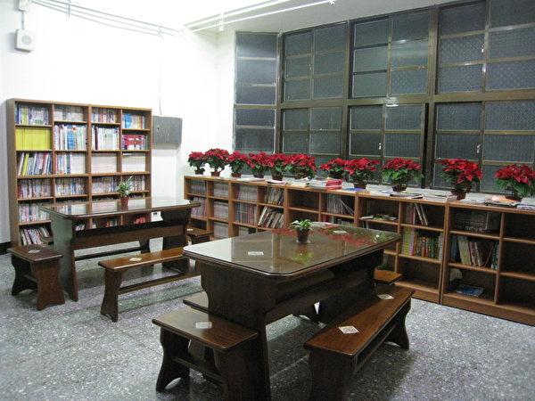 學生宿舍圖書閱覽室。(圖:仁愛國中提供)