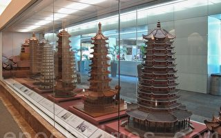 百年前中国木雕古塔群再现旧金山机场