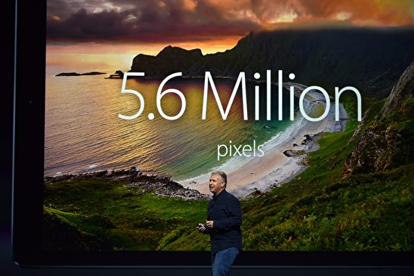 iPad Pro使用A9X晶片,是目前苹果功能最强大的平板电脑。(Josh Edelson/AFP/Getty Images)