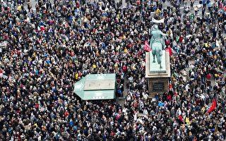 哥本哈根有近4万人参加了支持难民的集会。       (CLAUS BECH/AFP/Getty Images)