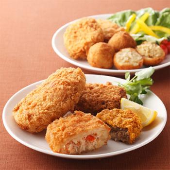 """太田食品公司的蟹肉炸丸子和肉饼。(图:""""片桐""""超市提供)"""
