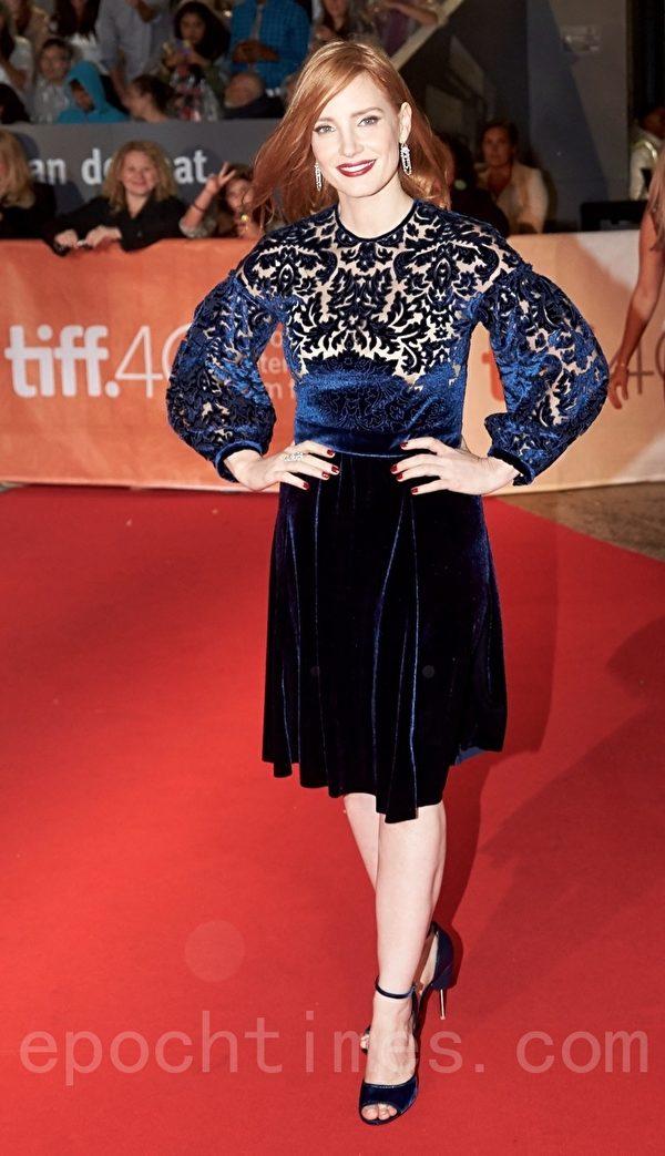 圖:美國女演員傑西卡•查斯坦(Jessica Chastain)。(Don Quincy/大紀元)