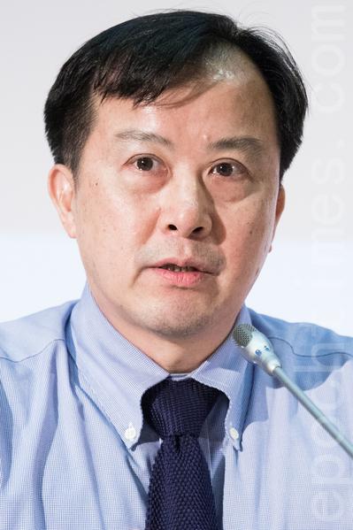 前台湾人权促进会会长邱晃泉。(陈柏州/大纪元)