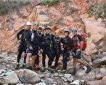 在猶他錫安國家公園(Zion National Park)遭遇洪水而亡的7名受害者中有6名是南加州人。被山洪沖走的7名登山者已經確定。左起,Gary Favela, Don Teichner, Muku Reynolds, Steve Arthur, Linda Arthur, Robin Brum and Mark MacKenzie。(國家公園局提供)