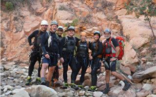 在犹他锡安国家公园(Zion National Park)遭遇洪水而亡的7名受害者中有6名是南加州人。被山洪冲走的7名登山者已经确定。左起,Gary Favela, Don Teichner, Muku Reynolds, Steve Arthur, Linda Arthur, Robin Brum and Mark MacKenzie。(国家公园局提供)