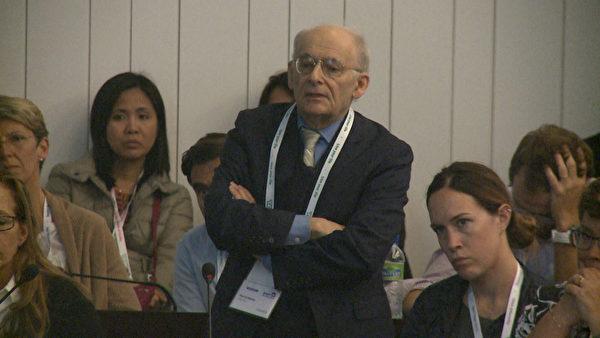 加拿大律师大卫‧麦塔斯参加2015年9月13日至16日在布鲁塞尔第17届欧洲器官移植大会举办的人体器官贩卖研讨会。(新唐人)