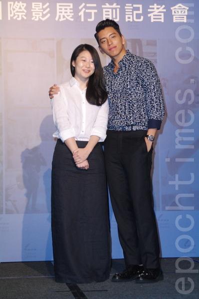 釜山影展行前记者会于2015年9月24日在台北举行。(左起)图为导演王希捷、王大陆。(黄宗茂/大纪元)