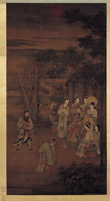 汉文帝在听取臣子袁盎的奏报。(维基百科公有领域)