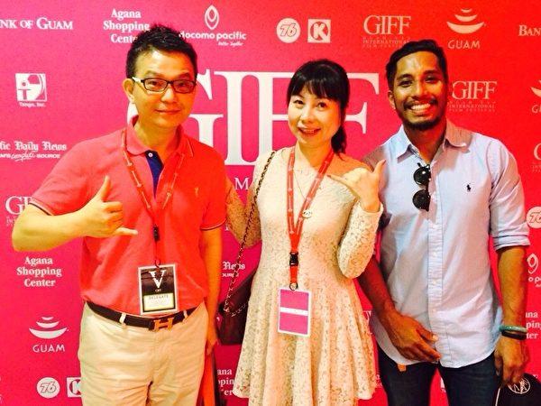 夢田文創出席代表呂秉原(左)與關島影展主席唐‧穆納(右)。(夢田文創提供)