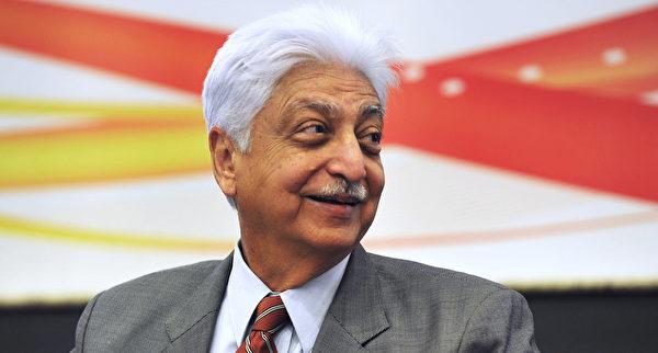 全球性技术服务公司威普罗(Wipro)董事长普雷姆吉(Azim Premji)被誉为印度的比尔‧盖茨,他同时也是印度科技首富。(Manjunath Kiran/AFP/Getty Images)