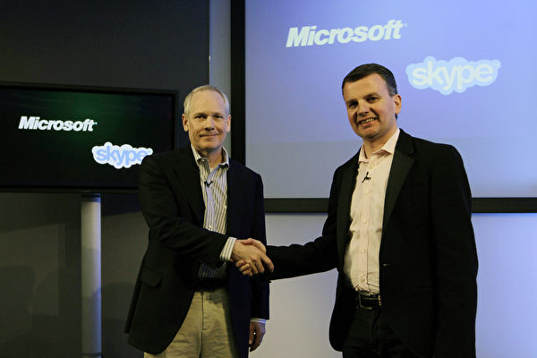 微软(Microsoft)于2011年并购Skype。(JSang Tan/Microsoft via Getty Images)