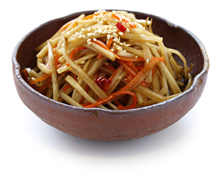 kinpira图案,炒牛蒡,胡萝卜,日式料理