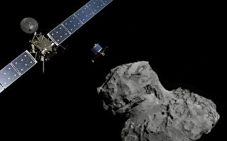 「羅賽塔號」(Rosetta)探測彗星67P。(ESA/Getty Images)