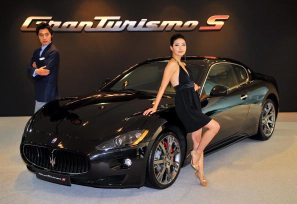 2014年在韓國車展總首次亮相的瑪莎拉蒂GranTurismo。(JUNG YEON-JE/AFP/Getty Images)