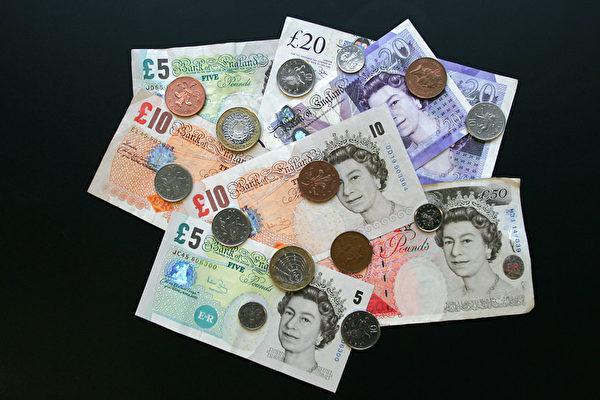 95名中國留英學生銀行帳戶被凍結。圖為英鎊。(STR/AFP)