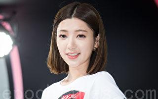 藝人郭雪芙在台北出席時尚活動照。(陳柏州/大紀元)