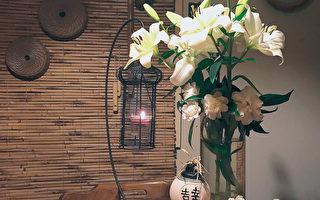 白色百合花。(李欣怡/大紀元)