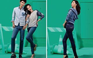 A-Lin代言牛仔裤拍广告,换了20套造型。(台湾索尼音乐/大纪元合成)