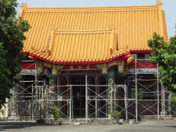 整修中的廖朝孔宗祠~垂裕堂。位于二崙乡中兴路4巷5号。(廖素贞/大纪元)