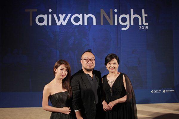 《西城童话》剧组,左起:演员郭书瑶、导演叶天伦、演员杨贵媚。(国家电影中心提供)